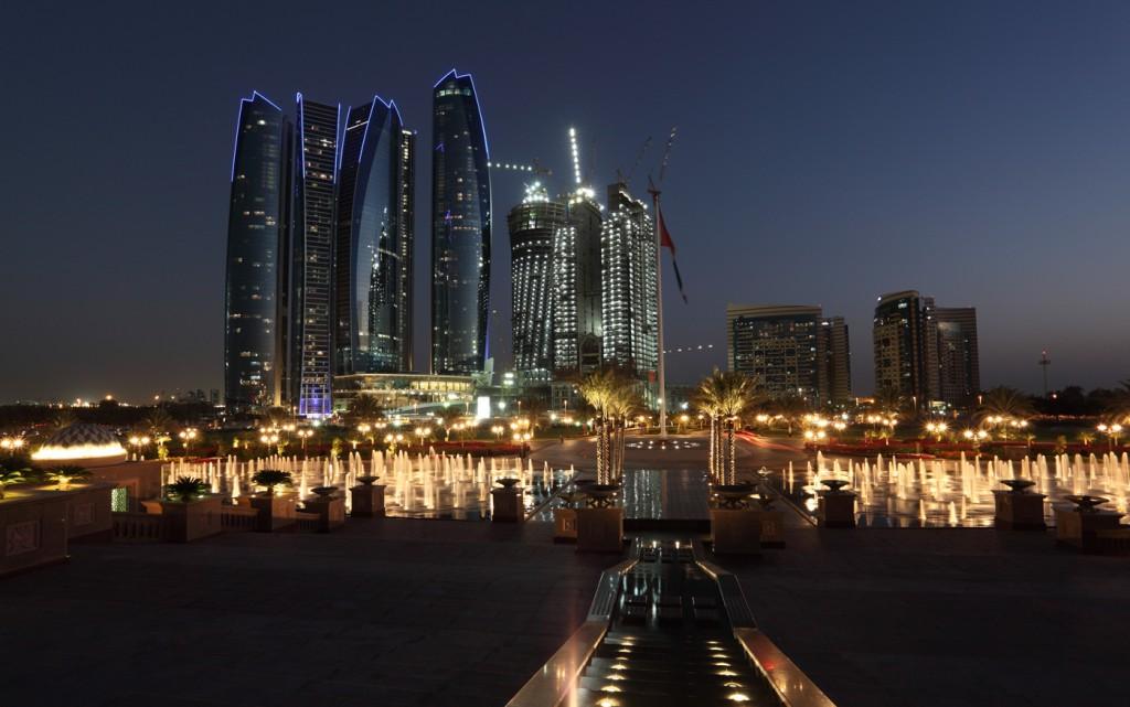 Abu-Dhabi-skyline-at-night-united-arab-emirates